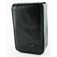 Black Pigskin Leather Pouch