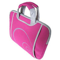 "Pink 13.3"" Neoprene Laptop Bag"
