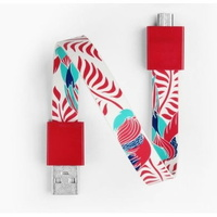 Mohzy USB to Micro USB Loop Cable in Red Bird