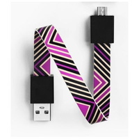 Mohzy USB to Micro USB Loop Cable Black/Purple Geo Pattern