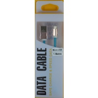 Micro USB to USB  1M Data/Charge Cable Blue