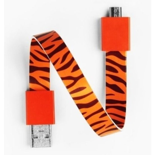 Mohzy USB to Micro USB Loop Cable in Tiger Pattern